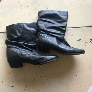 Vintage 80's ankle boots